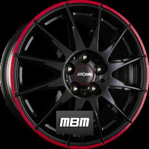 RONAL R54 MCR Jetblack-Red Rim Einteilig