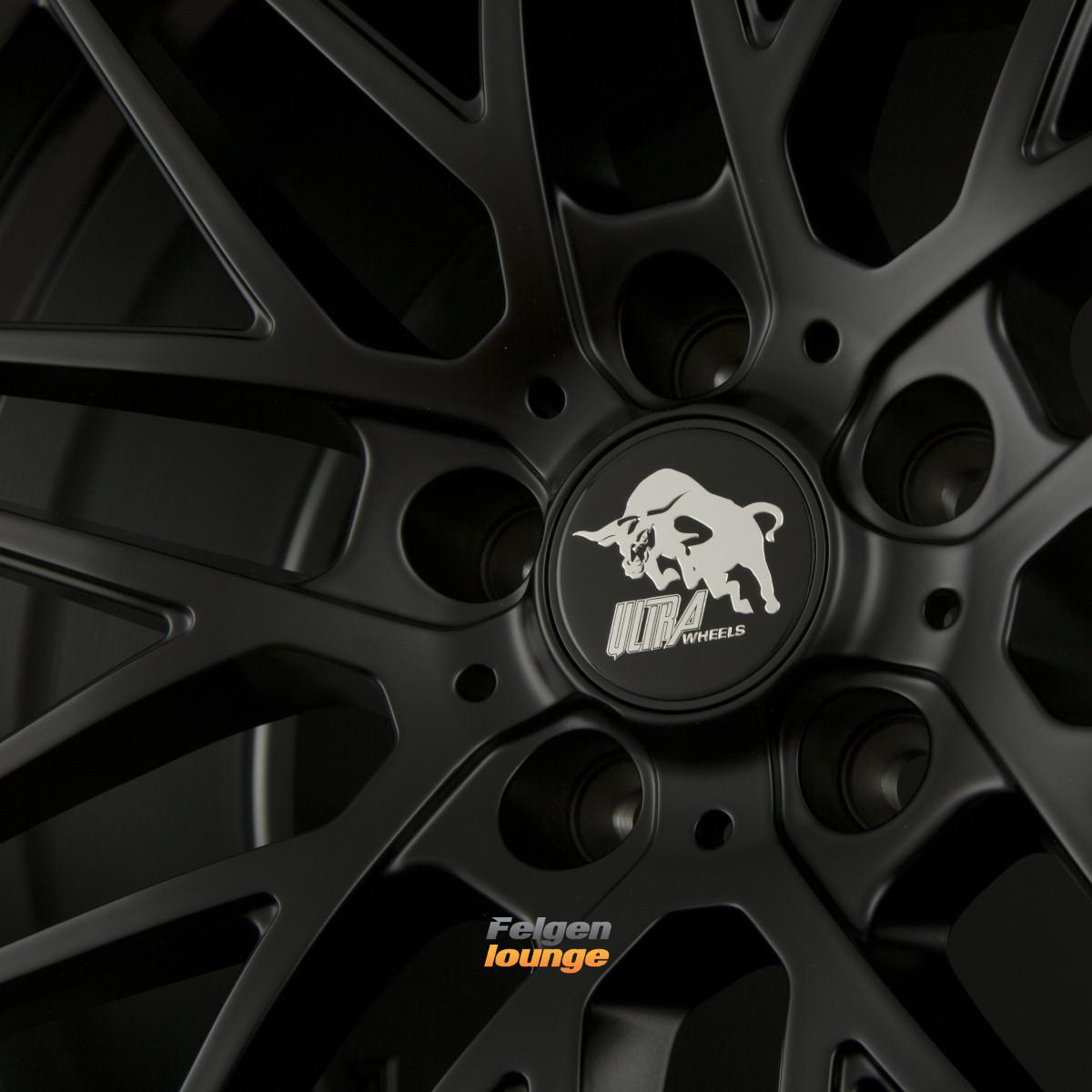 4 alufelgen ultra wheels ua1 race matt black 8 5x18 et35. Black Bedroom Furniture Sets. Home Design Ideas