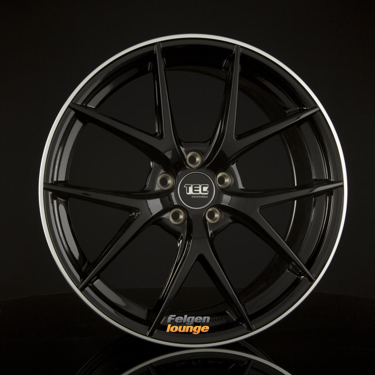 4 alufelgen tec speedwheels gt6 black polished lip bpl 8. Black Bedroom Furniture Sets. Home Design Ideas