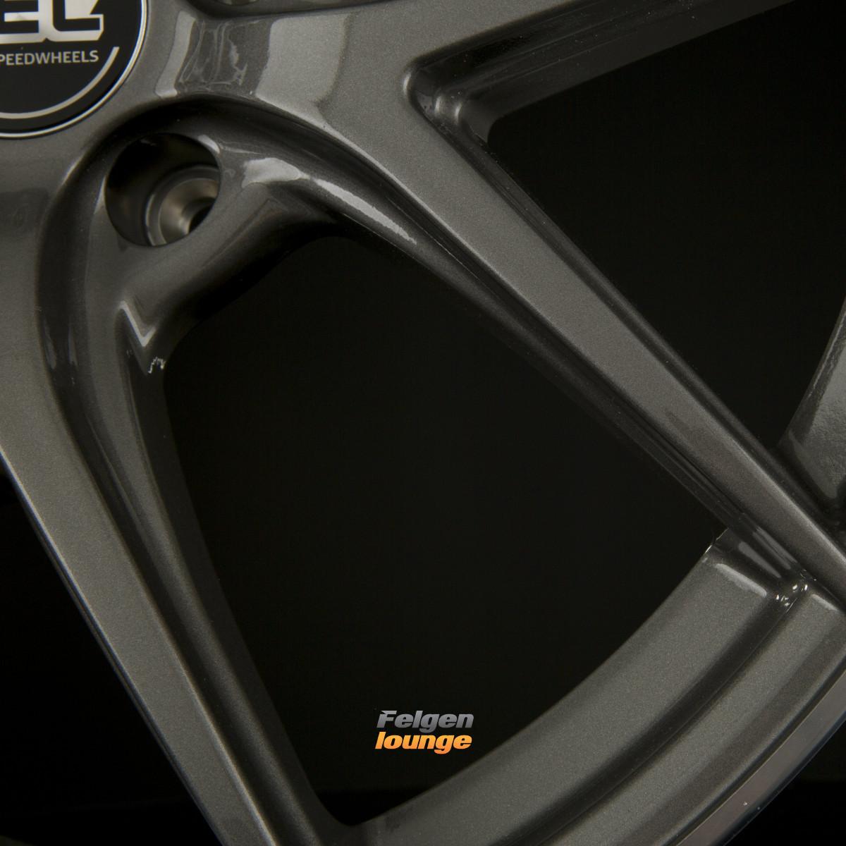 4 alufelgen tec speedwheels gt6 dark grey polished lip. Black Bedroom Furniture Sets. Home Design Ideas