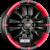 RONAL R59 Jetblack-Matt-Red Rim Einteilig könnyűfém felni