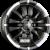 RONAL R59 Jetblack-Matt-Hornkopiert Einteilig könnyűfém felni