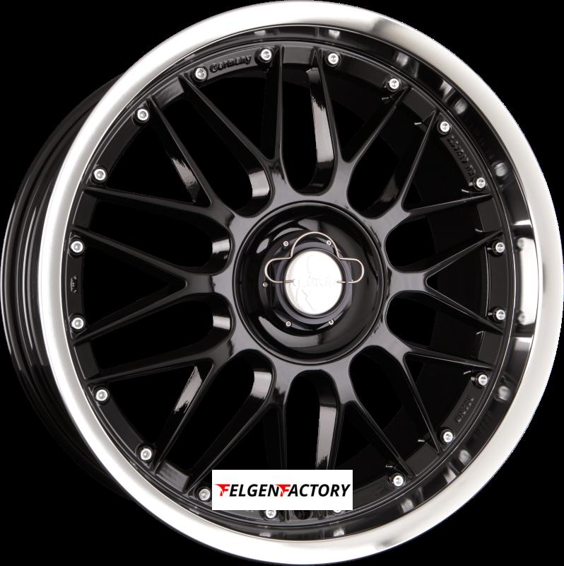 KESKIN KT 4 New Racer Black Lip Polish (BLP) 8.50 x 18 ET 40 5x108