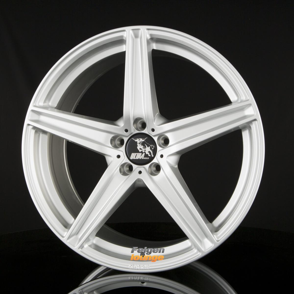 4 alufelgen ultra wheels ua7 silver painted 8x18 et45. Black Bedroom Furniture Sets. Home Design Ideas