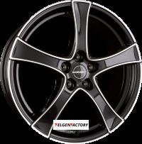 image-BORBET F2 Black Polished 7,5x19 ET48 5x112 VW Golf 5 6 7 Audi A3 8P 8V Seat Leon 5F Poliert