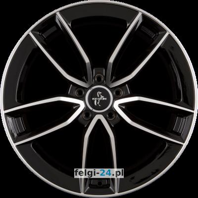 KESKIN KT21 ELEGANT Black Front Polished (BFP) Einteilig 7.50 x 17 ET 45 5 x 112.00 Czarny